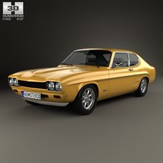 Ford Capri RS 2600 1970 3d model from humster3d.com. Price: $75