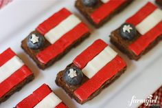 Fudgy Patriotic Brownies with Vanilla and Raspberry Buttercream- from a farmgirl's dabbles