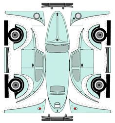 VW Käfer. This is pretty cool if you can print them out.
