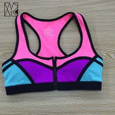 Gym Pansy Front Closure Zipper Running Sports Bra High Grade Fitness Sport Bra Top Shockproof Sujetador deportivo Tanks By154 -- You can find out more details at the link of the image.