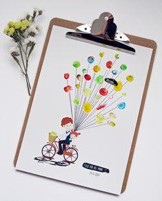 Cuadro hecho con pintura de dedos como regalo del día del padre. Fingerpainting picture. Fathers Day handmade gift | Blog www.micasaencualquierparte.com