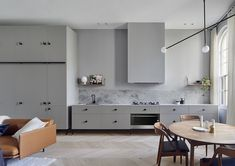 Kitchen Interior Design Remodeling Kitchen of the Kew Apartment by Sarah Wolfendale - Integrated Fisher European Apartment, Home Decor Kitchen, Apartment Interior, Apartment Interior Design, Interior Design Kitchen, Home Decor, Minimalist Kitchen, Home Interior Design, Interior Design