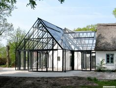 "Excellent ""greenhouse architecture project"" information is available on our website. Take a look and you wont be sorry you did. Greenhouse Attached To House, Greenhouse Shed, Outdoor Rooms, Outdoor Living, Future House, My House, Barn House Plans, Glass House, My Dream Home"