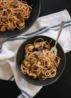 Miso *and* brown butter? Together with roasted eggplant and pasta? This is definitely on my MUST MAKE list thanks to @Kate (Cookie + Kate) !