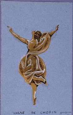 Jules Grandjouan, Isadora Ducan, Valse de Chopin, 1968