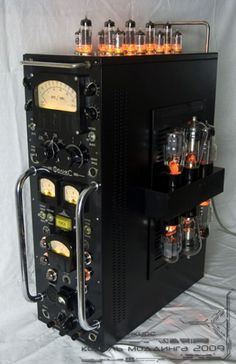 Russian steampunk computing tower, I like the old tubes being used. Have to try that.