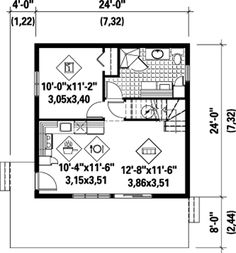 First Floor Plan of House Plan 52810