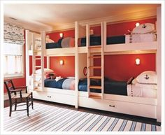 Great idea for skiing cabin for kids' room! May need to change the boat anchor to ski poles ;-)