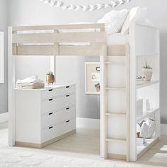Rhys Loft Bed with Dresser Set Bedroom Loft, Bedroom Sets, Dream Bedroom, Modern Bedroom, Bedroom Decor, Loft Beds For Teens, Zen Room, Cute Bedroom Ideas, Dresser Sets