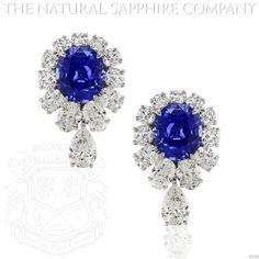 Blue Sapphire Earring (J3500) #TheNaturalSapphireCompany