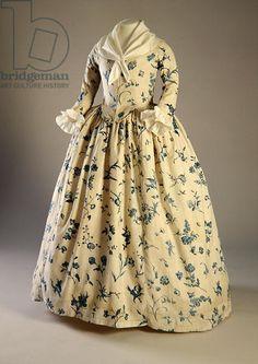 Gown worn by Deborah Sampson, from Massachusetts, 1780-90 (plate-printed linen)