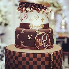 a cholocate Louis Vitton Cake someone needs to make me this cake for my birthday!
