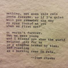 Holy crap... Love love love poetry. Some words dance on my bones! M