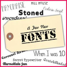 Sweetly Scrapped: New Free Fonts....
