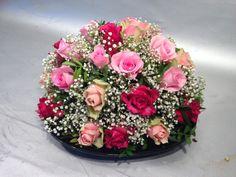 #diy #flowers #boeket #klassiek #biedermeier #roses #pink