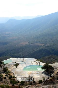 visiting the Mineral Springs and Petrified Waterfalls at Hierve el Agua (photo by Quercus Design)