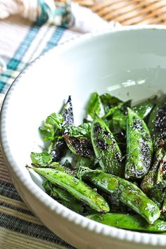 grilled snap peas to