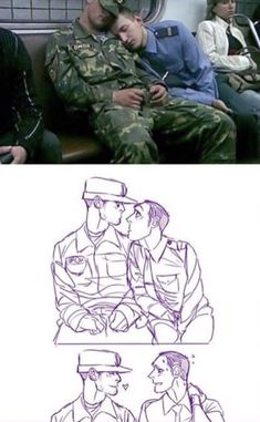 Writing inspiration about two guys in love working in two different military branches.