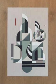 """Dawn Of Goodbye"", 24″ x 36"", Acrylics on wood,  2015"