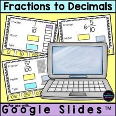 Teach your students to convert fractions to decimals with this engaging math activity! Children should look at the fraction, convert it to a decimal, click and drag the matching decimal and finally type the decimal. FUN hands-on learning for your math centers or distance learning!