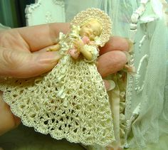"2.5"" One of a kind miniature baby by Morena Ciambra Dreamartdolls"