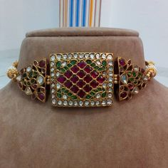 Emerald and Ruby choker ,old heritage look and style.