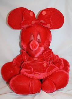 "16"" Disney Plush Red Sweet Cherry Minnie Mouse Stuffed Animal Christmas Valentine's Day $39.99"