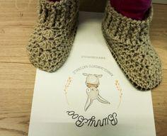 Crochet booties organic wool