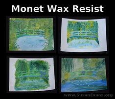 Monet art projects for kids crafts 30 ideas Classroom Art Projects, Art Classroom, Paris Art, Art Lessons Elementary, Teaching Art, Teaching Ideas, Preschool Art, Elements Of Art, Art Club