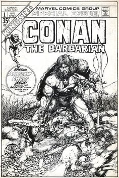 King-Size Conan The Barbarian #1 Cover Art by Barry Windsor Smith