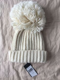 c6695df4dea817 OS BCBG maxazria Womens Fringe Oversized Pom Pom Knit Beanie Ivory #fashion  #clothing #