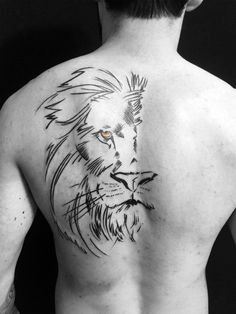 61 Best Stylish, Beautiful and Unique Tattoos for Men unique tattoos for men; unique tattoos for couples; unique tattoos for my son; unique tattoos for lost loved ones; unique tattoos for parents; unique tattoos for best friends Lion Back Tattoo, 42 Tattoo, Tattoo Arm Mann, Leo Tattoos, Body Art Tattoos, Sleeve Tattoos, Lion Chest Tattoo, Simple Lion Tattoo, Mens Body Tattoos