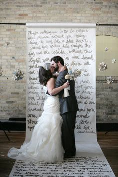 A long line of poetry - 16 Unique and Beautiful Wedding Backdrop Ideas…