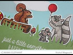 nichol magouirk: Mama Elephant Stamp Highlight | Woodland Gifts Card (video)