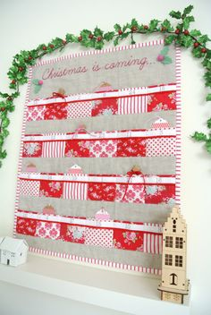 Pattern Quilted Advent Calendar with 24 pockets by SewSweetViolet