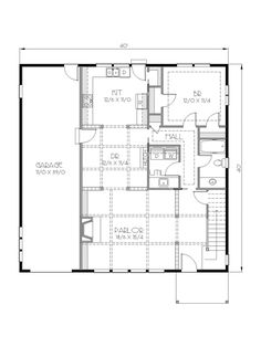 The sequoia home 2 825 square feet with 5 bedrooms and 3 for 40x40 2 story house plans