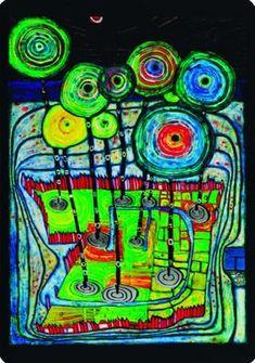 Friedensreich Hundertwasser-Park (Postkarte)