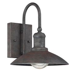 Artisan Rustic Industrial Outdoor Sconce-Small over boys' beds
