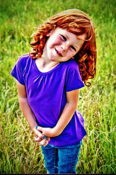 Children. Girl. Red hair. Curly hair. Child photography. Cute