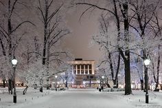 Svenska Teatern / Swedish Theatre in wintery Helsinki