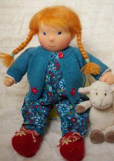 Lizzy - Kl. Puppenkind nach Waldorf Art von little-sweeties Stoffpuppen auf DaWanda.com