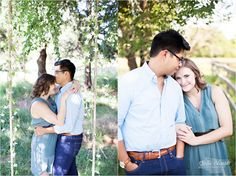 Adorable outdoor engagement session