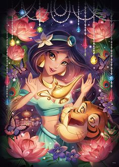Tenyo Disney Princess Jasmine Magic Shine Tenyo Disney Japan Jigsaw Puzzle Origin : Japan (Made in Japan) Piece : 500 pcs Finished Size : 35 x 49 cm Remarks : Glow in the Dark Batch Ref : Disney Princess Jasmine, Disney Princess Pictures, Disney Princess Drawings, Disney Princess Art, Princess Cartoon, Disney Pictures, Disney Princess Paintings, Flame Princess, Mermaid Princess