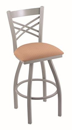"""Holland Bar Stool Co. 820 Catalina 30"""" Bar Stool with Anodized Nickel Finish and Swivel Seat, Axis Summer"""
