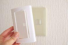 貼るだけで電気スイッチを押しやすく!100均「キャンドゥ」で見つけた「らくらくスイッチ」をご紹介します。
