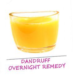 DIY natural overnight dandruff treatment