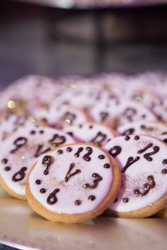 New Year's Eve Wedding Clock Cookie Food Favors