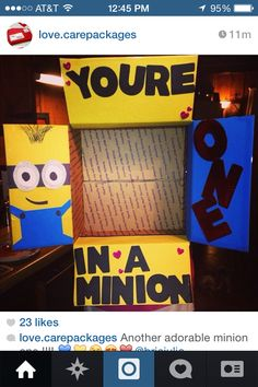 minion. This is so cute especially since we love watching it with our babies :)