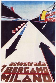 Marcello Nizzoli, poster for Lampo, 1930 Italy