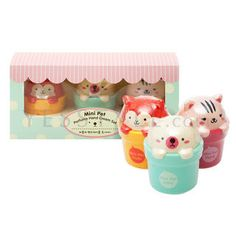 The Face Shop  Mini Pet Perfume Hand Cream Set (3 items): Baby + Fruits + Floral